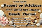 Bottle Cap Images ~ Precut or Stickers ~ Beach Theme $1.46 USD on eBay