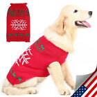 Warm Dog Christmas Clothes Big Snowflake Pattern Pet Knit Costume Cute Appreal