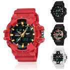 SANDA Men's Digital LED Alarm Week Analog Shock&Waterproof Sports Quartz Watch image