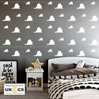 Cloud Wall Stickers Children's Nursery Room Vinyls Decals X28 Assorted Removable