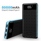 500000mAh Power Bank LCD 4USB Portable External Battery Charger For Cell Phone