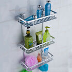 2/3Tier Aluminium Towel Rack Shelf Shower Shampoo Storage Holder Bath Organizer