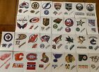 NHL Logo Hockey Decal Stickers Choose Your Team $1.29 USD on eBay