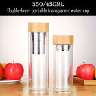 Glass Tea Bottle Tumbler with Stainless Steel Infuser for Loose Leaf Herbal Tea