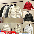 US Women Quilted Padded BubBle Puffer Coat Ladies Winter Zip Jacket Short Parka