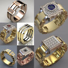 Fashion Rings for Men/Women 925 Silver,Gold,Rose Gold Cubic Zircon Size 6-10 image