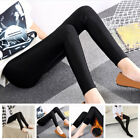 Women Solid Slim Fleece Lined Thick Thermal Warm High Waist Stretch Pencil Pants