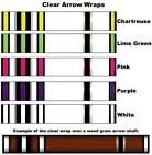 White Water Archery Clear Transparent Traditional 5b Arrow Wraps 15 Pc Pack