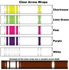 White Water Archery Clear Transparent Traditional 1b Arrow Wraps 15 Pc Pack