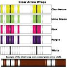 White Water Archery Clear Transparent Traditional 13b Arrow Wraps 15 Pc Pack