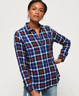 Superdry Womens Anneka Check Shirt <br/> RRP £39.99 - BUY FROM THE OFFICIAL SUPERDRY EBAY STORE