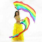 Rainbow Silk Veil Streamer Belly Dancer Fan Stage Performance Props RIV