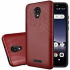 For TCL A1 Shockproof Lines Hybrid Impact Dual Layered Case Phone Cover