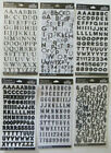 Sticko Black Alphabet Some With Numbers Individual Sticker Packs - You Choose