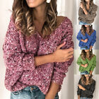 Ladies V Neck Sweater Autumn Long Sleeve Pullover Tops Sweater Casual Knitwear