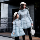 Women&Child Cotton Down Coat A Line Sweet Bubble Jacket Stand Collar Thick Parka