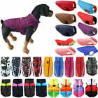 Waterproof Jackets Pet Dogs Clothes Winter Warm Padded Puffer Coats Vest Outdoor