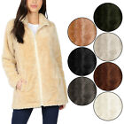 KOGMO Women's Soft Faux Fur Zip Up Jacket with Pockets Relaxed Fit