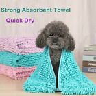 Pet Water Absorption Bath Towel Long-Haired Dog Bathe Quick Drying Towels NEW