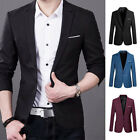Mens Casual Blazer Suit Coat Button Business Formal Slim Fit Jacket Outwear Tops