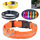 Adjustable Dog LED Flashing Collar USB Rechargeable Pet Glowing Collar Necklace