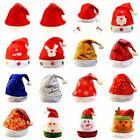 Men Women Father Christmas Hat XMAS Santa Family Gift For Adult Child Kid Baby