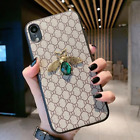*SALE* Gucci Luxury Designer iPhone case 3D Bee Diamond Embroidery Leather Cover