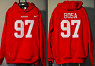 Nick Bosa San Francisco 49ers Jersey NFL Hooded Sweatshirt Embroidered Hoodie $69.99 USD on eBay