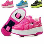 28-42  Children Roller Skate Shoes Kids Sneakers With Two Wheels