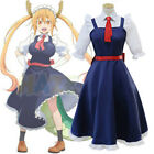 Miss Kobayashis Dragon Maid Tohru Cosplay Costume Maid Dress Halloween Women