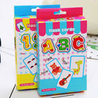 36 X Flash Cards Learn English Word Number Baby Literacy Game Educational Toy