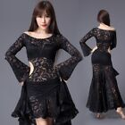 NEW Lace One-piece Dress Long Skirt with safty shorts Belly Dance Costumes BU