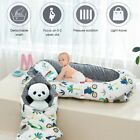 For 0-2y Baby Cotton Grey Crib Lounger Nest Bassinet Travel Bed Sleeping Infants