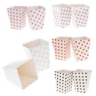 Polka Dots Popcorn Treat Boxes Containers Paper Popcorn Bags Pack of 12