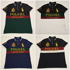 men polo ralph lauren mesh polo shirt gold polo rl big pony custom slim fit