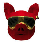 2020 Pig Mask Head Mascot Costume Suits Cosplay Party Game Carnival Halloween Ad