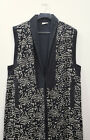 Sleeveless Duster African Black White Cotton Fish