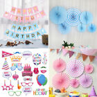 Happy Birthday Banner Selfie Photo Props Booth Wall Paper Hanging Decorations UK
