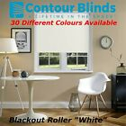 +BLACKOUT ROLLER BLINDS IN 30 DIFFERENT COLOURS, WHITE, PINK, BLUE, GREY, CREAM+