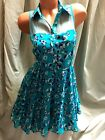 Love Fire Floral Dress Teal Womens Pacsun New