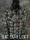 Mens WESTERN HERITAGE Snap-Up Shirt Black Brown Faded Plaid ROAR with Class!