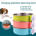 4FF6 Plastic Bowl Cage Bowl Water Puppy Detachable Dog Feeder