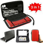 3 in 1 Carrying Bag+Clear Case Cover+Screen Protector for New Nintendo 3DS XL LL