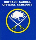 1980's to 2000's NHL Buffalo Sabres Hockey Schedule - U-Pick From List $2.95 CAD on eBay