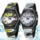 Colorful Camouflage Pattern Watches Analog Waterproof Kids Military Wristwatches image