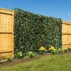 Expanding Natural Willow Trellis With Realistic Artificial Laurel Leaf  2 x 1m