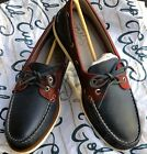 SPERRY Gold Cup Men Size 13 Leather Boat Shoes ASV Navy Red NEW