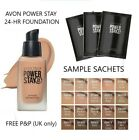 Avon True POWER STAY 24-Hour Foundation SAMPLE SACHET All Shades **FREE P