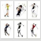 Golf Sporting Wall Art Posters Golfing Prints Picture PRINT ONLY or Framed A3/A4
