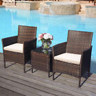 3 Piece Outdoor Rattan Garden Furniture Conservatory Small Set Table And Chair